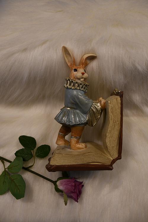 Kaniner som bokstöd
