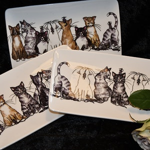Assiett med katter