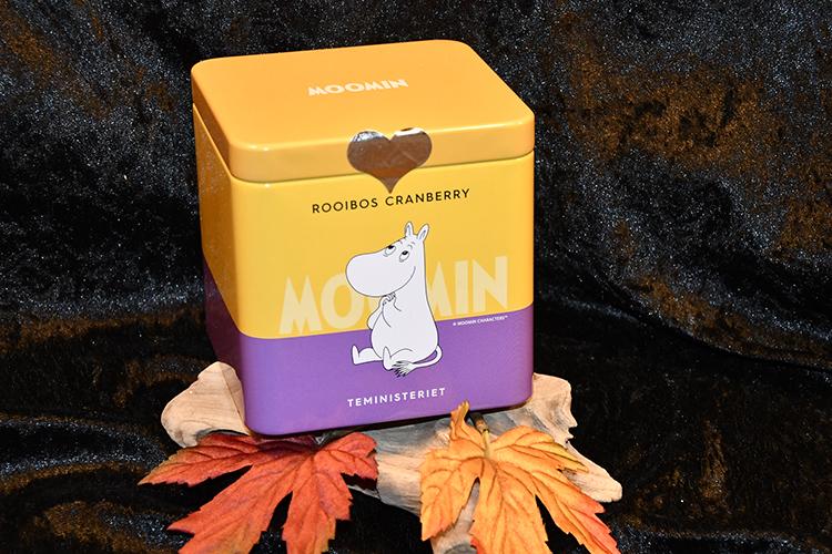 Mumin Rooibos te med Tranbär, i Plåtburk