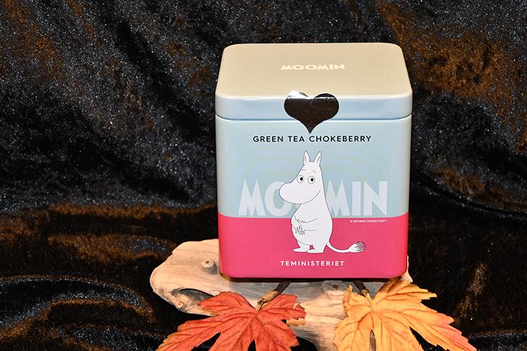 Mumin Grönt te med Chokeberry/Aroniabär, i Plåtburk