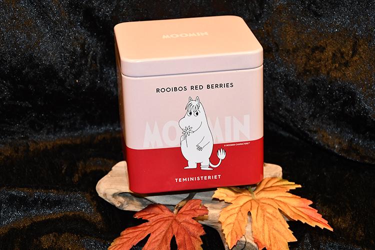 Mumin Rooibos te med Röda Bär, i Plåtburk