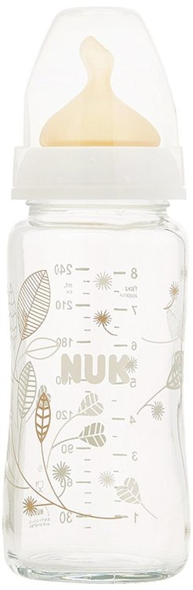 NUK First Choice+ Nappflaska glass 240 ml, latex