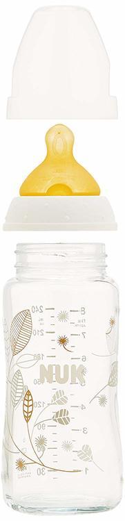NUK First Choice+ Nappflaska glass 240 ml, latex