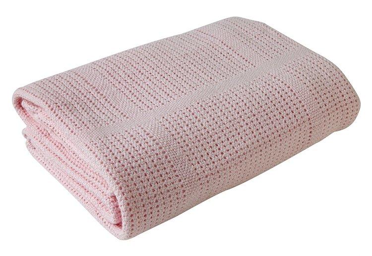 Clare de Lune filt rosa, bomull, 100x150cm