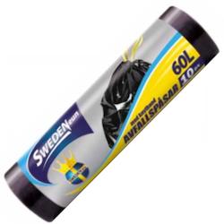 Avfallspåsar med knytband 60L 10-pack
