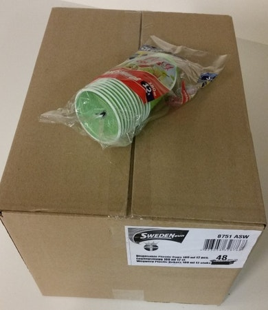 Plastmugg 180 ml, 12-pack