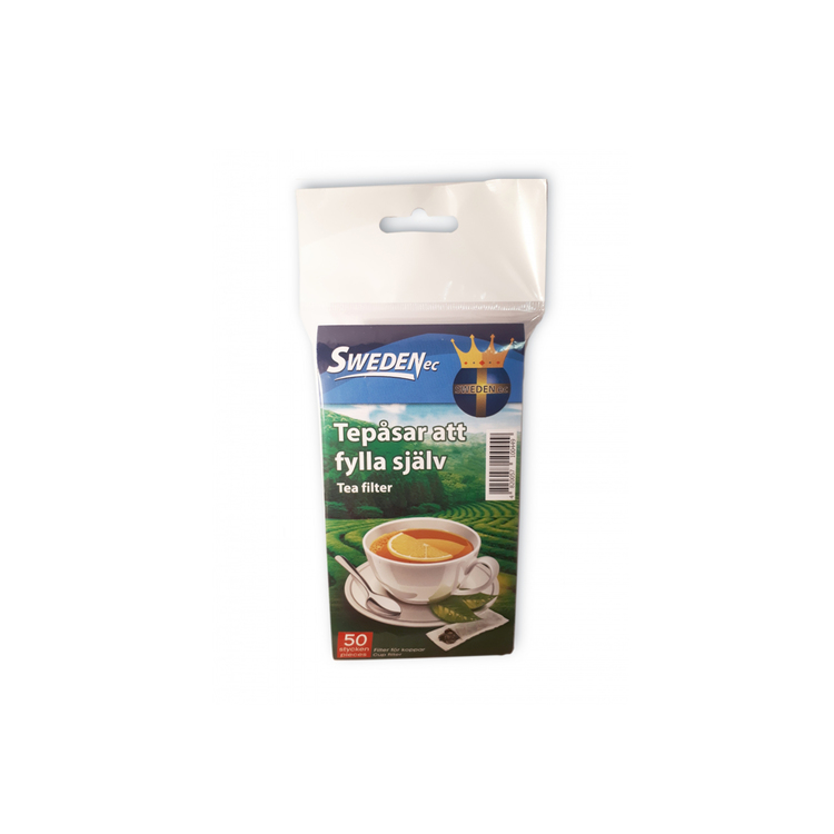 Tefilter liten/ tomma tepåsar, 50-pack