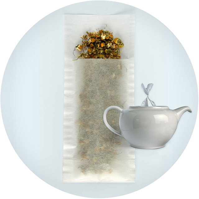 Tefilter stor / tomma tepåsar, 50-pack