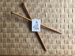 Jumperstickor/ bambu/ ca 25 cm, 8 mm