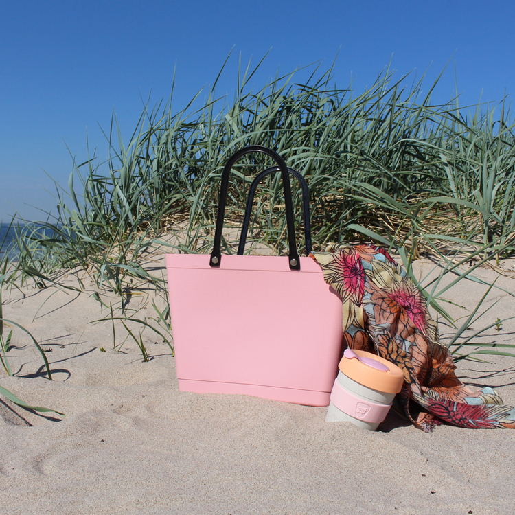 Sweden Bag-Liten/ Green Plastic/ dusty pink/ art nr 220