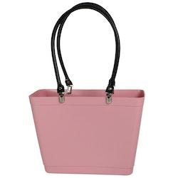 Liten med svarta läderhandtag/ Bioplast / dusty pink/ art nr 220-1