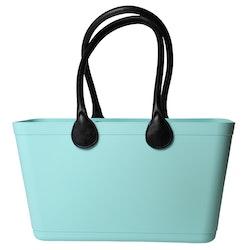 Stor Sweden Bag med långa läderhandtag/ Bioplast/ pepparmint/ art nr 126-1