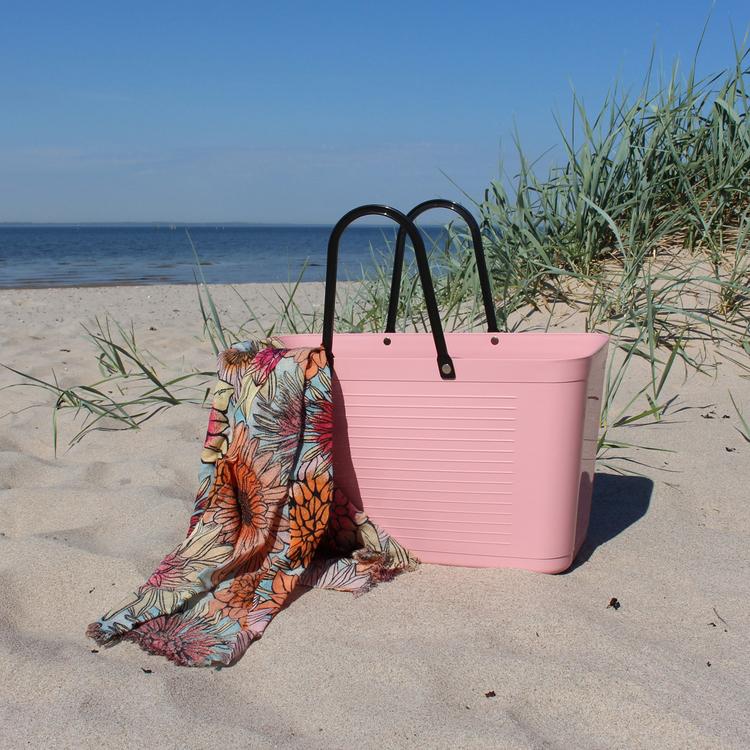 Sweden Bag - Stor/ Dusty Pink/ Green Plastic/ art nr 120