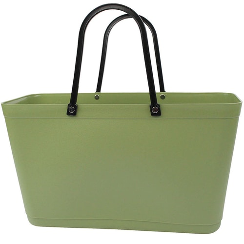 Sweden Bag - Stor/ naturgrön/ Green Plastic/ art nr 119