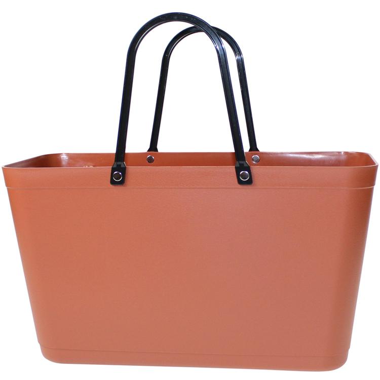 Sweden Bag - Stor / kopparbrun/ Green Plastic/ art nr 122