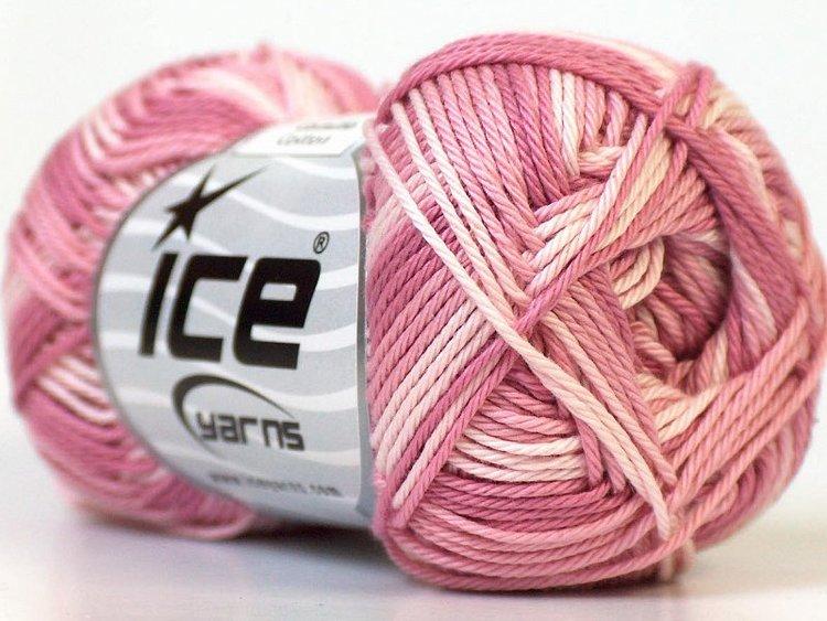 Camilla Cotton, art nr 885/ självrandande i rosa nyanser och vitt