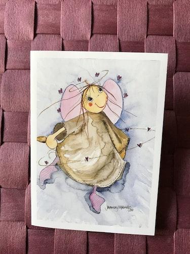 Litet  kort med ängel, K46