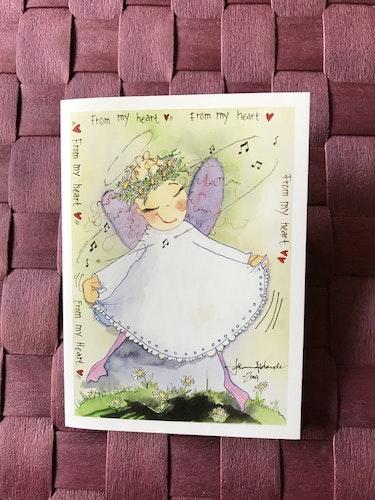 Litet kort med ängel, K48