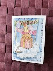 Litet kort med ängel, K50