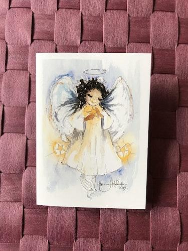 Litet kort med ängel, K57