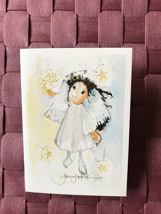 Litet kort med ängel, K58
