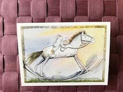 Litet kort med ängel, K59