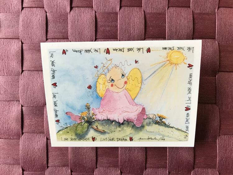 Litet kort med ängel, K60