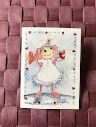Litet kort med ängel, K62