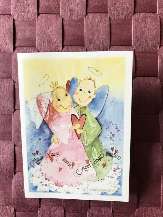 Litet kort med ängel, K63