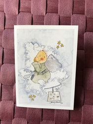 Litet kort med ängel, K73