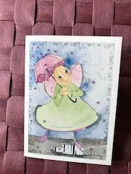 Litet kort med ängel, K75