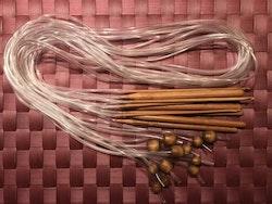 Tunisisk virknål med slang, nr 6,5 mm