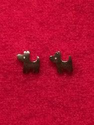Örhängen i sterlingsilver, hundar, ett par