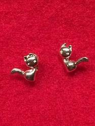 Örhängen i sterlingsilver, katter, ett par