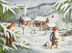 "Enkelt julkort ""Tomtegläntan "", 1 st"
