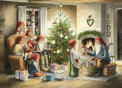 """Enkelt julkort """"Julaftonskväll """", 1 st"""