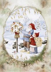 """Enkelt julkort """"Småvänner """", 1 st"""