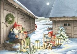 """Enkelt julkort """"Månskensfröjd """", 1 st"""