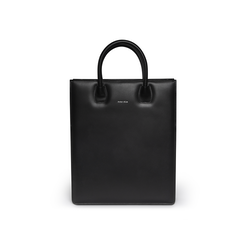 Tote Bag N° 1 Black- Vegetable tanned leather