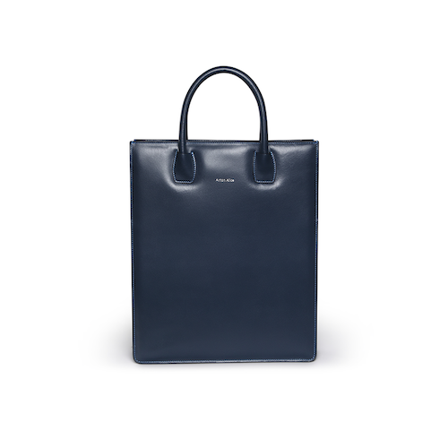 Tote Bag  N° 1 Blue - Vegetable tanned leather