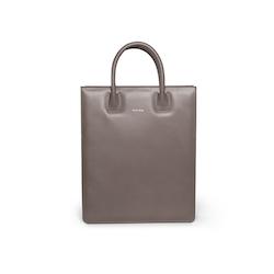 Tote Bag N°1 Dark Grey - Vegetable tanned leather