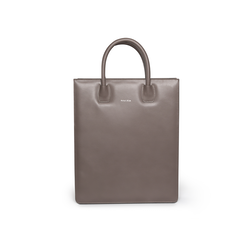Tote Bag N°1 Dark Grey - Vegetable tanned leather