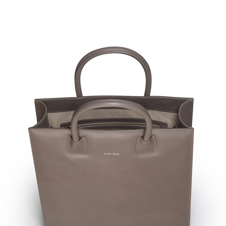 TOTE BAG N°1 - Taupe, Dark Grey