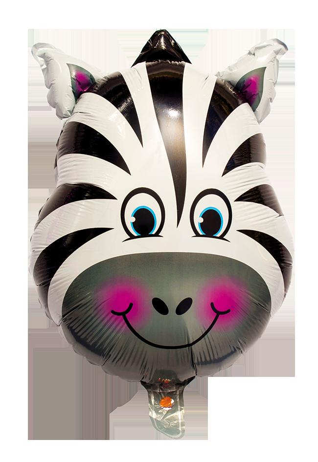 Heliumballong Zebra