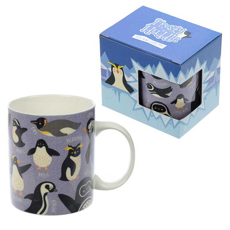 Frosty Huddle Pingvin Benporslinsmugg