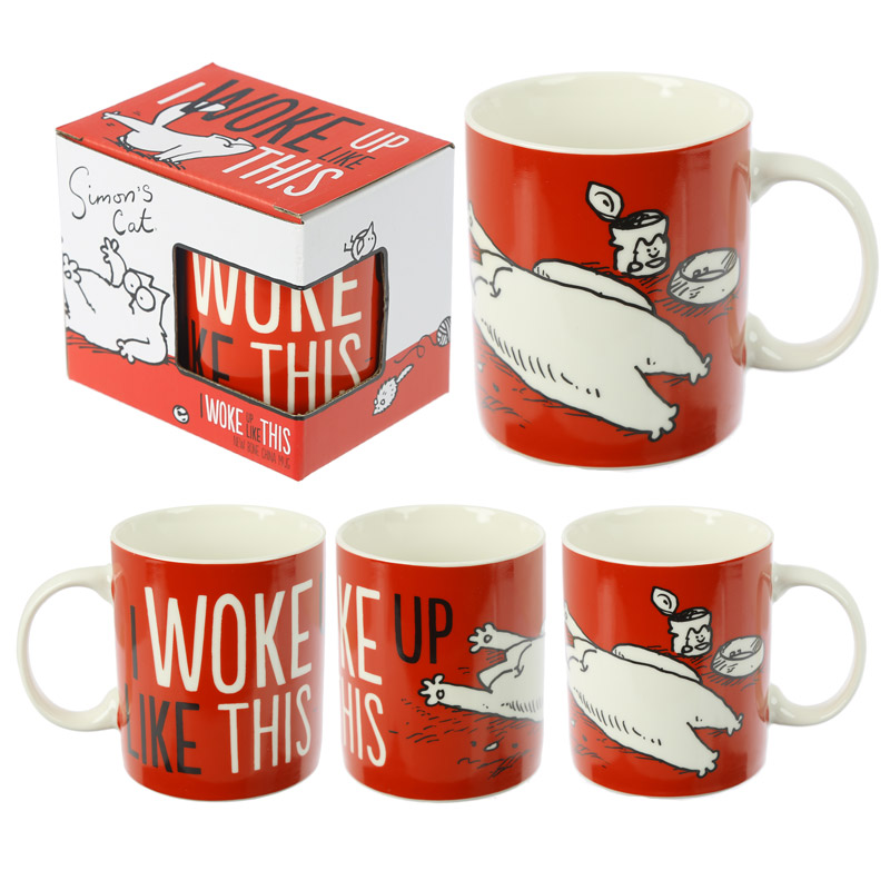I Woke Up Like This - Simon's Cat Benporslinsmugg
