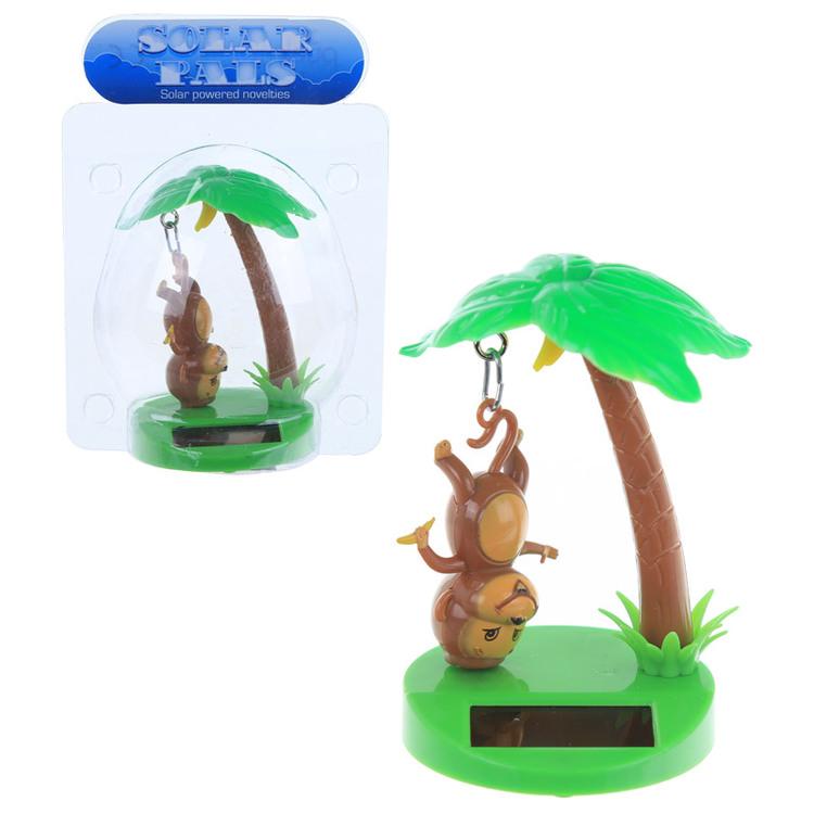 Hängande Apa och Palm Solcellsfigur