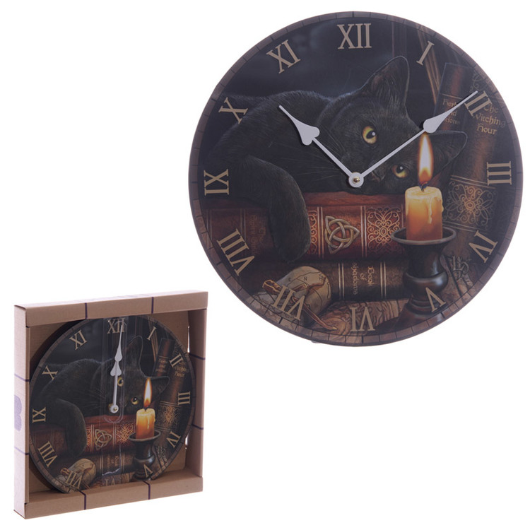 Lisa Parker Witching Hour Cat Picture Clock