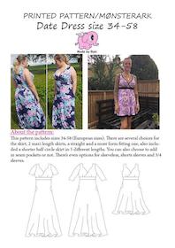Made by Runi´s Date Dress dam, stl. 34-58 + add on Date dress