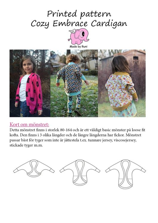 Made by Runi´s Cozy Embrace Cardigan paket, barn och dam